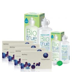 4 KUTU BIOFINITY + BIO TRUE 300 + 120 ML