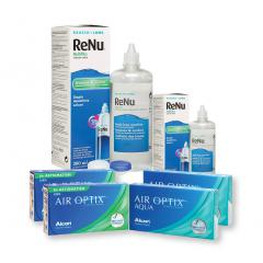 2 KUTU AIR OPTIX AQUA + 2 KUTU AIR OPTIX TORIC + RENU 360 + 120 ML