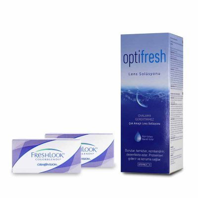 2 KUTU FRESHLOOK COLORBLENDS NUMARASIZ + OPTIFRESH 360 ML SOLUSYON / FIRSAT PAKETLERİ