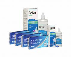 4 KUTU AIR OPTIX HYDRAGLYDE + RENU 360 ML + 120 ML