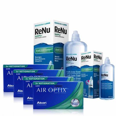 4 KUTU AIR OPTIX TORIC + RENU 360+ 120 ML / FIRSAT PAKETLERİ