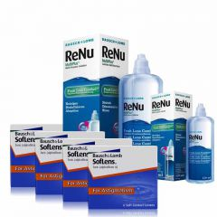 4 KUTU SOFLENS TORIC + RENU 360 + 120 ML