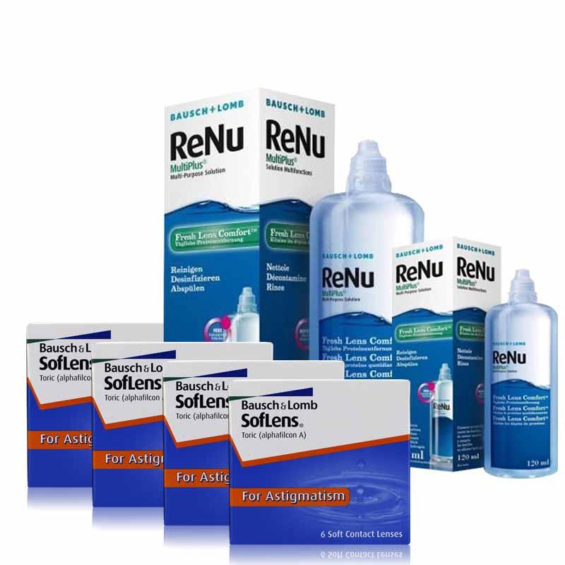 4 KUTU SOFLENS TORIC + RENU 360 + 120 ML / FIRSAT PAKETLERİ