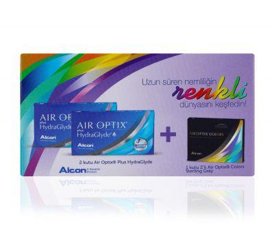 AIR OPTIX HYDRAGLYDE 3 LU PAKET / RENKLİ LENSLER