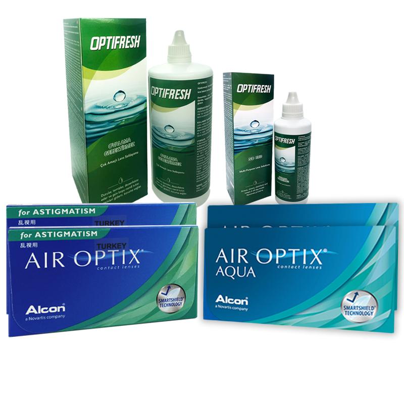 2 KUTU AIR OPTIX AQUA + 2 KUTU AIR OPTIX TORIC + OPTIFRESH 360 ML + 100 ML / FIRSAT PAKETLERİ
