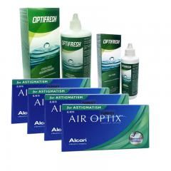 4 KUTU AIR OPTIX TORIC + OPTIFRESH 360 ML + 100 ML