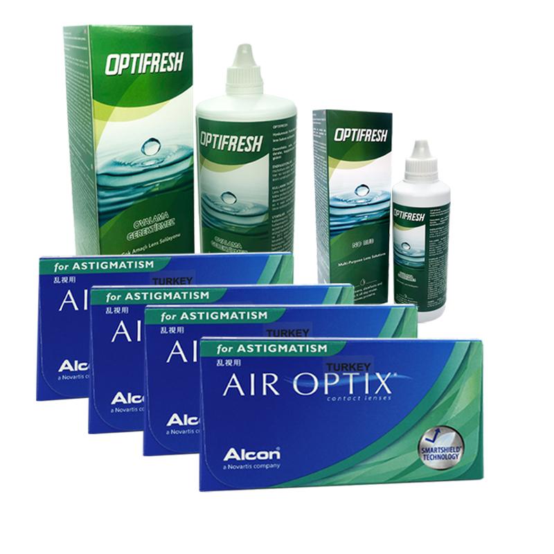 4 KUTU AIR OPTIX TORIC + OPTIFRESH 360 ML + 100 ML / FIRSAT PAKETLERİ