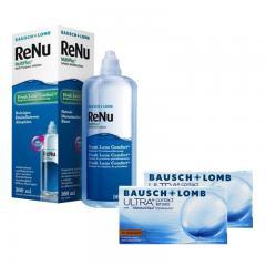 2 KUTU ULTRA CONTACT LENSES TORIC + RENU 360 ML