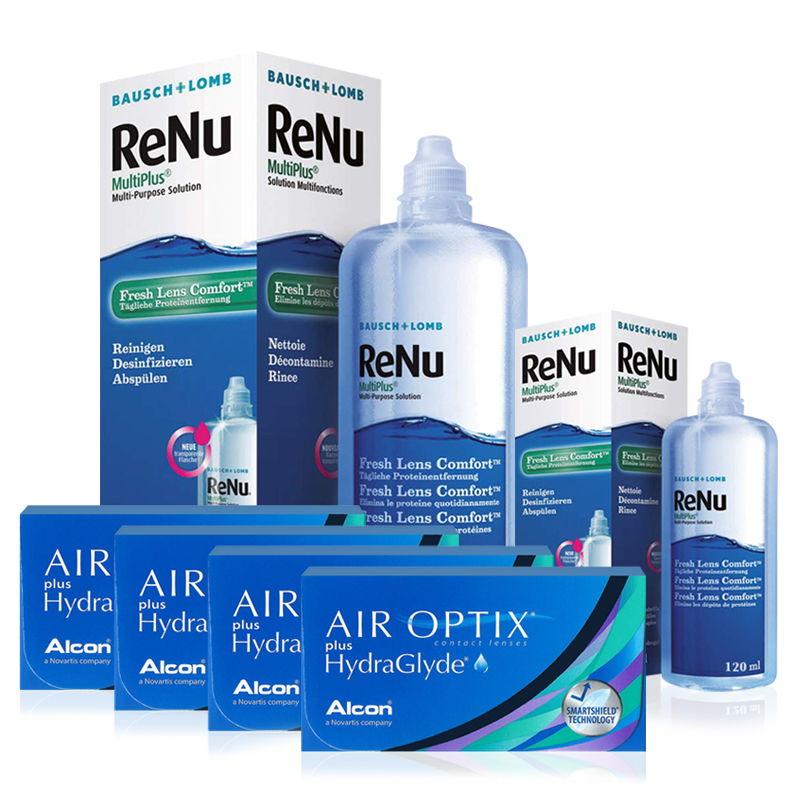 4 KUTU AIR OPTIX HYDRAGLYDE + RENU 360 ML + 120 ML / FIRSAT PAKETLERİ