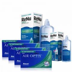 4 KUTU AIR OPTIX TORIC + RENU 360 ML + 120 ML