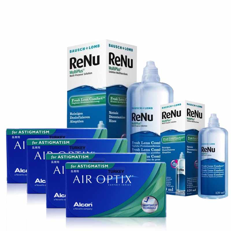 4 KUTU AIR OPTIX TORIC + RENU 360 ML + 120 ML / FIRSAT PAKETLERİ